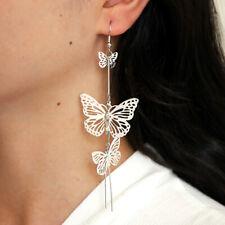 Long Butterfly Statement Drop Dangle Earrings Ear Studs Wedding Jewelry Women UK