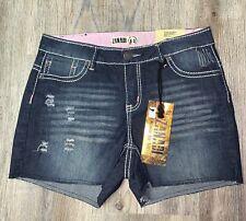NWT ~ Zana Di distressed Detroit denim stretch shorts ~ womens 14