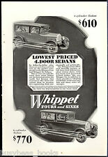 1928 Willys WHIPPET advertisement, WILLYS OVERLAND Whippet Sedan