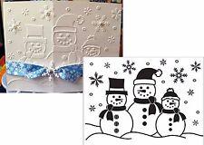 Snowman embossing folder 1215-57 Darice embossing folders Christmas Holidays
