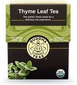 Thyme Leaf Tea by Buddha Teas, 18 tea bag 1 pack