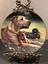 "Hamilton Collector Plate-Jim Lamb ""Like Father Like Son� Sporting Dog Generation"