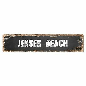 SP0345 JENSEN BEACH Street Sign Bar Store Cafe Home Kitchen Chic Decor Gift