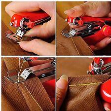 Portable Mini Hand-Held Clothes Fabrics Sewing Machine Home Needlework Cordless
