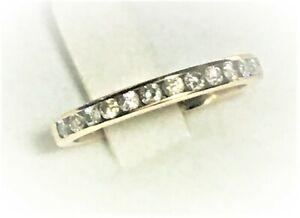 1/4CT Diamond Channel Set Anniversary Wedding Band Ring 14K Yellow Gold Sz 7.25