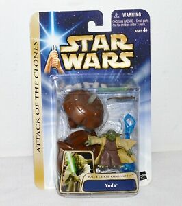 Star Wars Yoda Battle of Geonosis Attack of the Clones Figure AOTC Collction