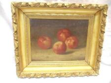 Original Bryant Chapin Still Life 4 Apples 1910 Oil on Canvas Signed Framed
