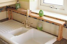Kitchen Over Sink Tidy Shelf Rack, Made of Waterproof Bamboo