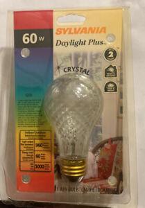 Sylvania Crystal Light Bulb Daylight Plus 120V  60 Watt 1 Bulb NEW