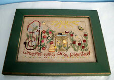SHEPHERD'S BUSH GROW COMPLETED CROSS STITCH PICTURE GARDENING PLANT FLOWERS