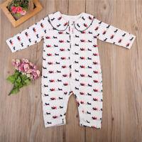 UK Newborn Infant Baby Boys Girls Pajamas Sleepwear Pyjamas Outfits Home Clothes