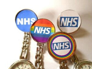 Nurse Watch Clip on Brooch Rainbow Colours 22 different styles free p&p UK