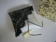 Weddingstar Ring Pillow- Jet Black Lace & Beads/ Ivory Satin- Beverly Clark- NIP