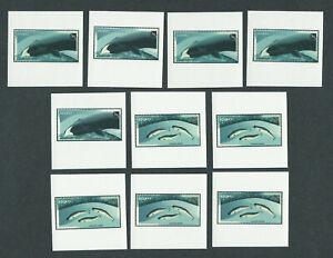 Canada 10 Temporary Tatoos MNH like  # 1868 -1870.... Whales