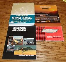 1969 Chevrolet Car Service Manual Owners Manual Sales Brochure Lot of 4 69