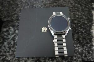 Huawei Watch GT 46mm Edelstahlgehäuse silber/schwarz