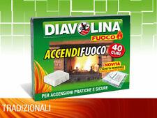 Diavolina Fuoco Accendifuoco 40 Cubi per accensioni pratiche e sicure F224