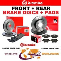 BREMBO XTRA Drilled FRONT + REAR DISCS + PADS for VW TOURAN 2.0 TDI 2015->on