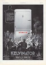 Publicité  Refrigerateur KELVINATOR  Légionnaires  La  Légion vintagead 1935 -6h
