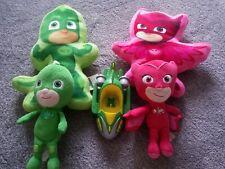 PJ Masks Shape Pillows Owlett + GeKKo + plush toys + GeKKo Mobile car bundle