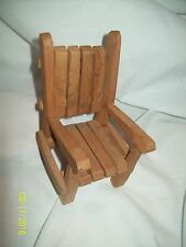 """Barbie Doll Furniture 5.5"""" High Wooden Slotted Chair-Well Made"""