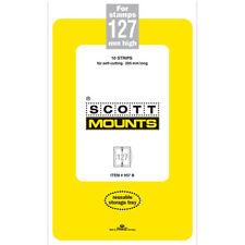 Scott/Prinz Pre-Cut Strips 265mm Long Stamp Mounts 265x127 #957 Clear