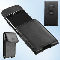 For Kyocera Hydro Shore ZTE Z799VL Belt Clip Holster Loop Leather Pouch Case