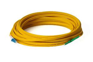 10m LWL LC/UPC-LC/APC Patchkabel, Simplex, OS2, 9/125, 3mm, Lichtwellenleiter