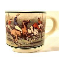 Polo Ralph Lauren 10 Oz Ceramic Coffee Cup Mug Horsemanship Horse Sports Vtg