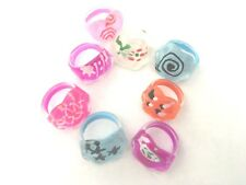 3 Pack Kids Girls Rings Lucite Party Bags Stocking Filler Childrens