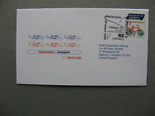 NETHERLANDS, cover FFC 2009, Amsterdam - Liverpool, single franking 77c bicycle