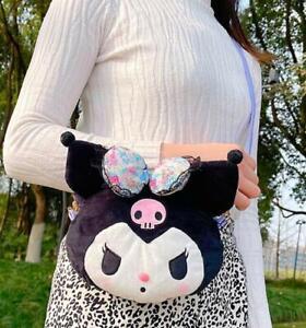 Kuromi black bling shoulder bag musette bag Cycling bags handbag sweet