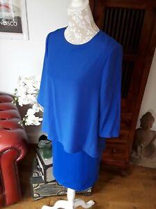 BNWT Ted Baker bright blue overhang dress Ted 2 UK 10
