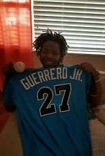 VLADIMIR GUERRERO JR  AUTOGRAPHED GAME USED. 2017 FUTURES GAME JERSEY.