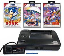 ## SEGA Master System 2 + Pad + Sonic 1, 2, Chaos + Strom- & TV-Anschluss ##