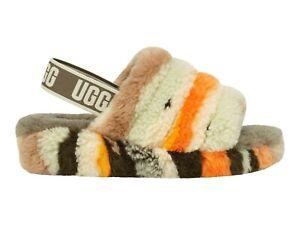 UGG Women's Fluff Yeah Slide Slipper 1118164 Olive Cali Collage Sz 5-12 NEW