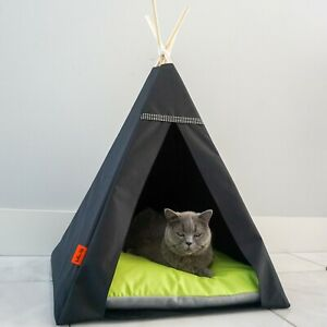 Glamour Teepee cat bed - Lime, cat bed with pillow*luxury cat*cat tent