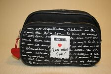 Vintage 90's Moschino Franco Panini canvas Italian designer Makeup Cosmetic Bag
