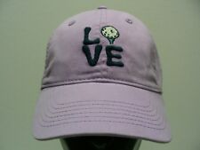 LOVE GOLF - LIFE IS GOOD - PURPLE - YOUTH SIZE STRAPBACK BALL CAP HAT!