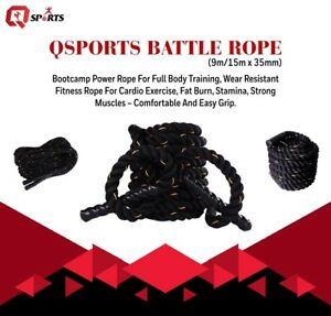 Q Sports Solid Battle Boot Camp Fitness Exercise Gym Training High Quality Ropes