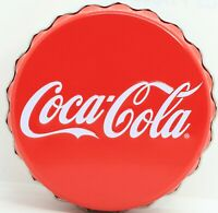 Coca-Cola Coke Tin Round Container Red Soda Pop Memorabilia Storage - JD955