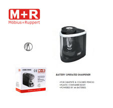 Mobius and Ruppert (M+R) BATTERY OPERATED Pencil sharpener w/ shavings catcher