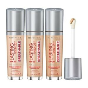 RIMMEL LASTING FINISH 25HR BREATHABLE FOUNDATION 30ML - CHOOSE SHADE FROM