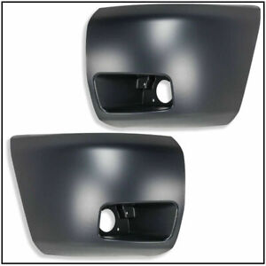 P.CHEVY SILVERADO 1500 2007 - 2013 FRONT BUMPER END W/HOLE RIGHT LEFT PAIR SET