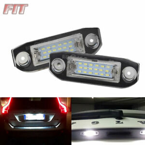 LED License Plate Lights Xenon White CANBUS For 2009-2015 Volvo XC60 XC70 V70