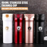 400ML Multicolor Travel Mug Coffee Tea Water Cups Stainless Steel Thermos Cup