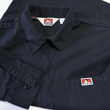 Vintage Ben Davis Pullover 1/2 Zip LS Work Shirt Made in USA Black Ms L EUC