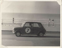 MINI CAR No.7,  AT BRIGHTON, PERIOD PHOTOGRAPH.