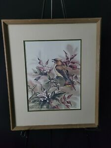 """1981 Cathy Johnston McClung Signed & Numbered Framed Print 46/500, 17"""" x 14.5"""""""
