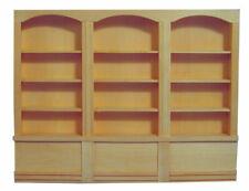 1 /12 scale Dolls House Furniture  Plain Wood Triple Shelf BEF060